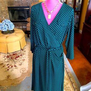 Talbots NEW Faux wrap gorgeous dress 1X